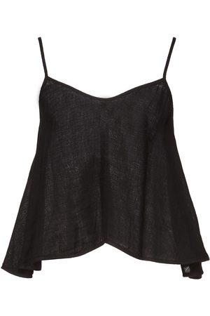 ENZA COSTA Woman Linen Peplum Camisole Size 0