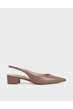 CHARLES & KEITH Women Heels - Pointed Toe Slingback Pumps
