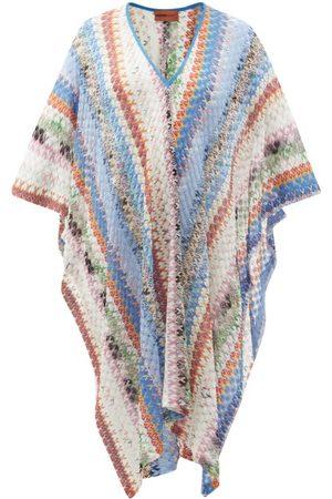 Missoni V-neck Abstract-jacquard Knitted Kaftan - Womens - Multi