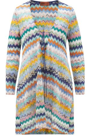 Missoni V-neck Zigzag-jacquard Mini Dress - Womens - Multi