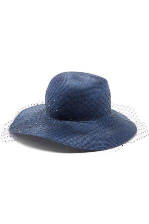 STEPHEN JONES Women Hats - Bewitched Net-veil Woven Hat - Womens - Navy