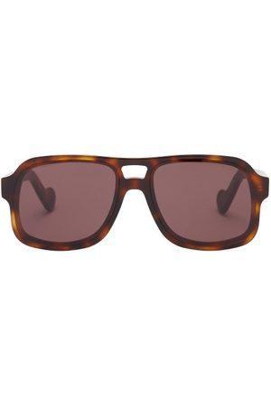 Moncler Women Aviators - Aviator Tortoiseshell-acetate Sunglasses - Womens - Tortoiseshell