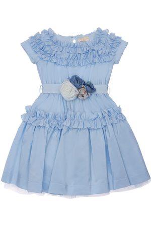 MONNALISA Ruffled Taffeta Dress