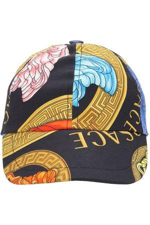 VERSACE Girls Hats - Medusa Print Cotton Gabardine Hat