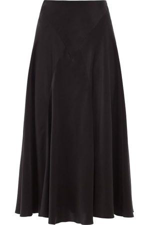 Simone Rocha Women Midi Skirts - High-rise Bias-cut Silk-satin Midi Skirt - Womens