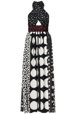 Dolce & Gabbana Women Halterneck Dresses - Polka-dot Halterneck Silk-blend Dress - Womens