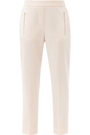 Stella McCartney Zip-pocket Wool Straight-leg Trousers - Womens - Light