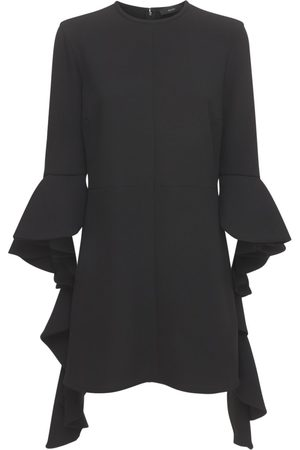 Ellery Kilkenny Ruffled Sleeve Crepe Mini Dress