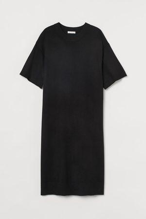 H&M Women Knitted Dresses - Fine-knit T-shirt Dress