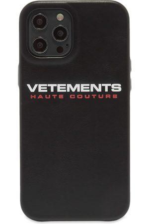 Vetements Men Phones Cases - Logo Haute Couture iPhone 12 Pro Case