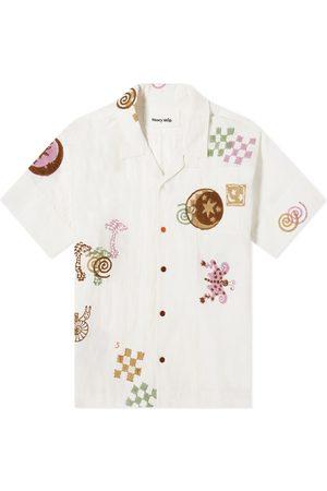 Story Men Shirts - Embroidered Greetings Vacation Shirt