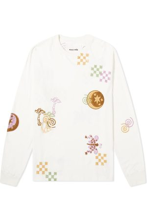 Story Long Sleeve Embroidered Grateful Tee