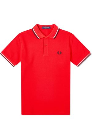 Fred Perry Men Polo Shirts - Slim Fit Twin Tipped Polo