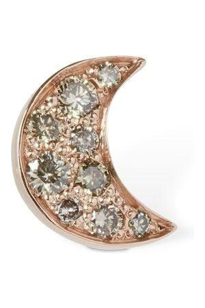 Dodo Women Studs - 9kt Luna Stud Mono Earring W/ Diamond