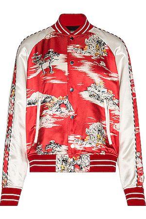 AMIRI Hawaiian Bomber Jacket in Red