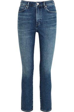 Citizens of Humanity Women Slim - Olivia dark blue slim-leg jeans