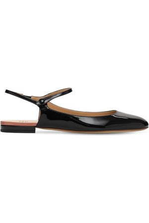 Francesco Russo 10mm Patent Leather Mary Jane Ballerinas