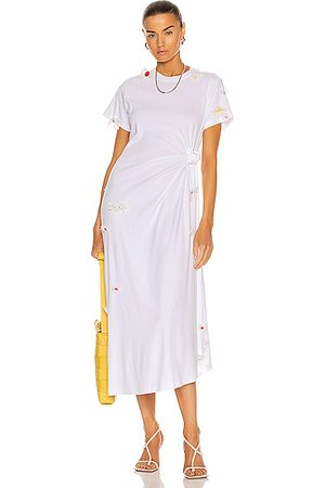 Rosie Assoulin Knotted Tee Dress in White
