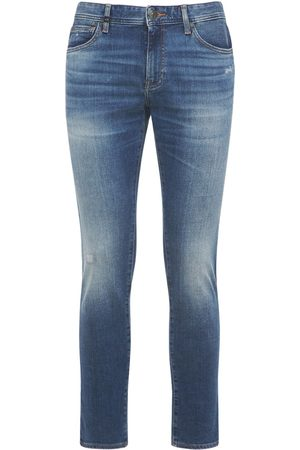 Armani Men Stretch - Distressed Stretch Cotton Denim Jeans