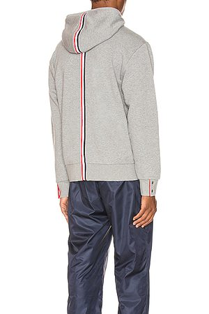 Thom Browne Zipper Hoodie in Gray