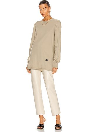 DRKSHDW BY RICK OWENS Women Long Sleeve - Long Sleeve Level Tee in Beige