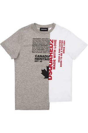 Dsquared2 Girls T-shirts - Printed Cotton Jersey T-shirt