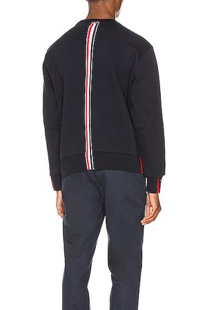Thom Browne Striped Crewneck Pullover in Blue