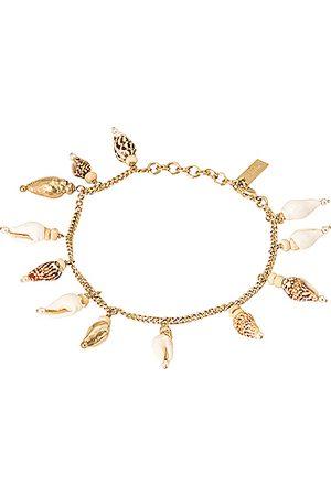 Saint Laurent Women Bracelets - Dangling Seashell Bracelet in Metallic Gold