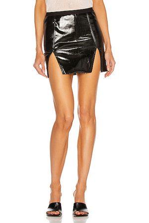 Rick Owens Women Mini Skirts - Sacrimini Denim Mini Skirt in Black