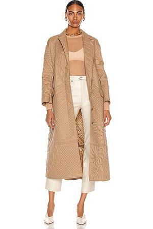 Moncler Genius Women Coats - 1 Moncler JW Anderson Penbryn Overcoat in Tan