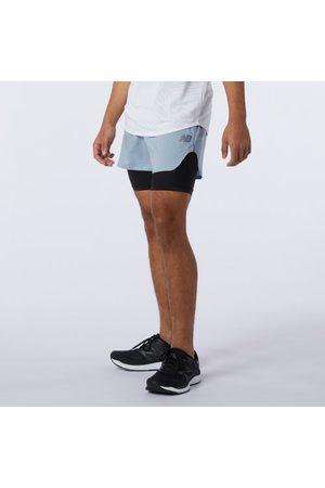 Men Shorts - New Balance Men's Q Speed Fuel 2 in 1 5 Inch Short