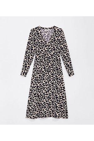 LOFT Maternity Cheetah Print Midi Shirtdress