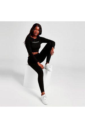Supply & Demand Women Leggings - Women's Lander Ribbed Leggings in Black/Black