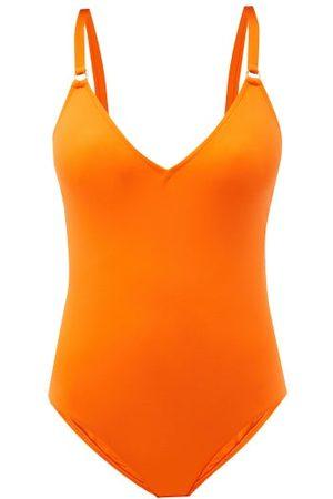 Melissa Odabash Cyprus V-neck Swimsuit - Womens - Orange