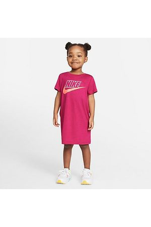 Nike Girls' Toddler Futura T-Shirt Dress in Pink/Fireberry Size 2 Toddler Polyester/Jersey/Viscose