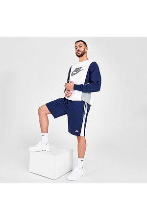 Nike Men Shorts - Men's Sportswear Hybrid French Terry Shorts in Blue/Midnight Navy