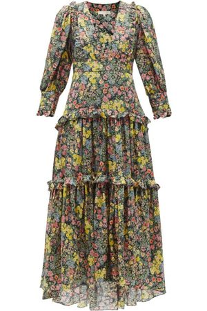 LOVESHACKFANCY Women Printed Dresses - Lorencia Floral-print Cotton-blend Dress - Womens - Multi