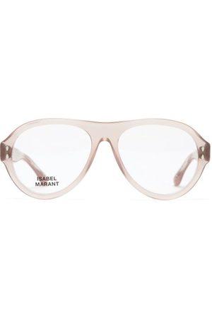 Isabel Marant Trendy Aviator Acetate And Metal Glasses - Womens - Nude
