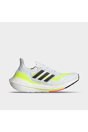 adidas Boys Shoes - Boys' Big Kids' UltraBOOST 21 Primeblue Running Shoes in White/White