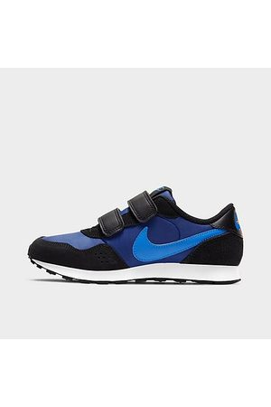 Nike Boys' Little Kids' MD Valiant Hook-and-Loop Casual Shoes in Blue/Black Size 11.5 Suede