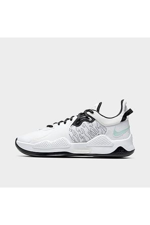 Nike PG 5 Basketball Shoes in White/White Size 15.0
