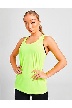 Under Armour Women's Tech Training Tank Top in Green/High Vis Yellow
