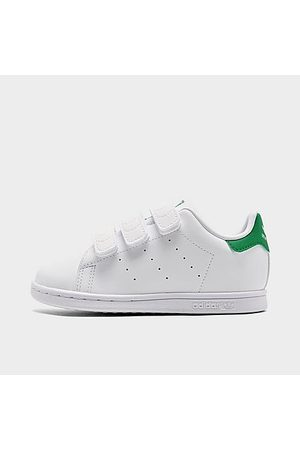 adidas Kids' Toddler Originals Stan Smith Primegreen Casual Shoes in White/Cloud White Size 4.0