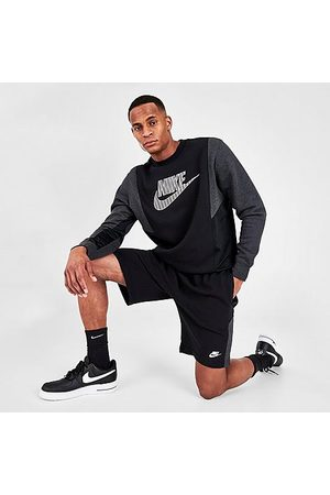 Nike Men's Sportswear Hybrid French Terry Shorts in Black/Black Heather