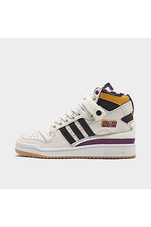 adidas Unisex Originals x Girls Are Awesome Forum '84 High Casual Shoes in Off-White/Chalk White Size 3.5 Leather/Suede