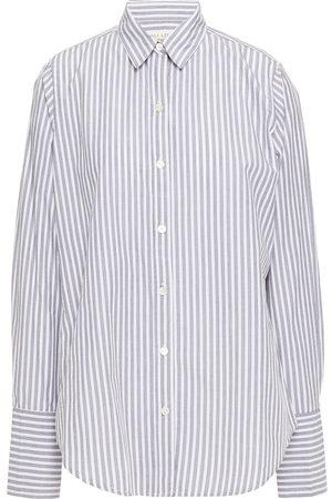 NILI LOTAN Women Long sleeves - Woman Helen Striped Cotton-poplin Shirt White Size L