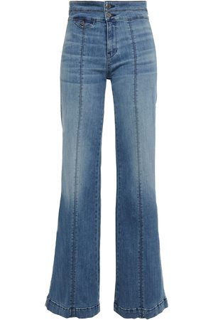 VERONICA BEARD Woman Ember Faded High-rise Flared Jeans Mid Denim Size 23