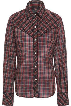 NILI LOTAN Women Long sleeves - Woman Ada Checked Cotton-voile Shirt Multicolor Size L