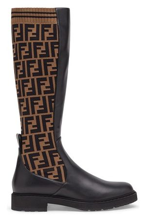 Fendi Women Ankle Boots - Black leather boots