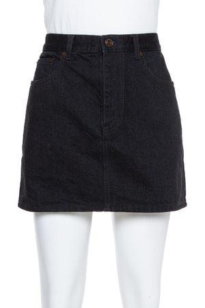 Saint Laurent Black Denim Mini Skirt M